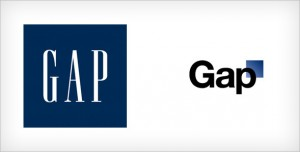 Old and new Gap logo