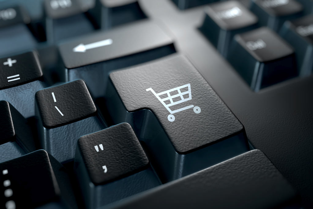 Shopping cart button on keyboard
