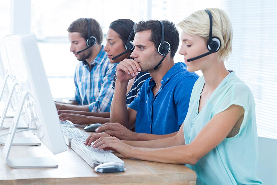 Multiple technical support call center