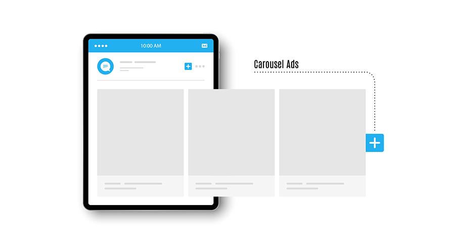Carousel ads mobile app