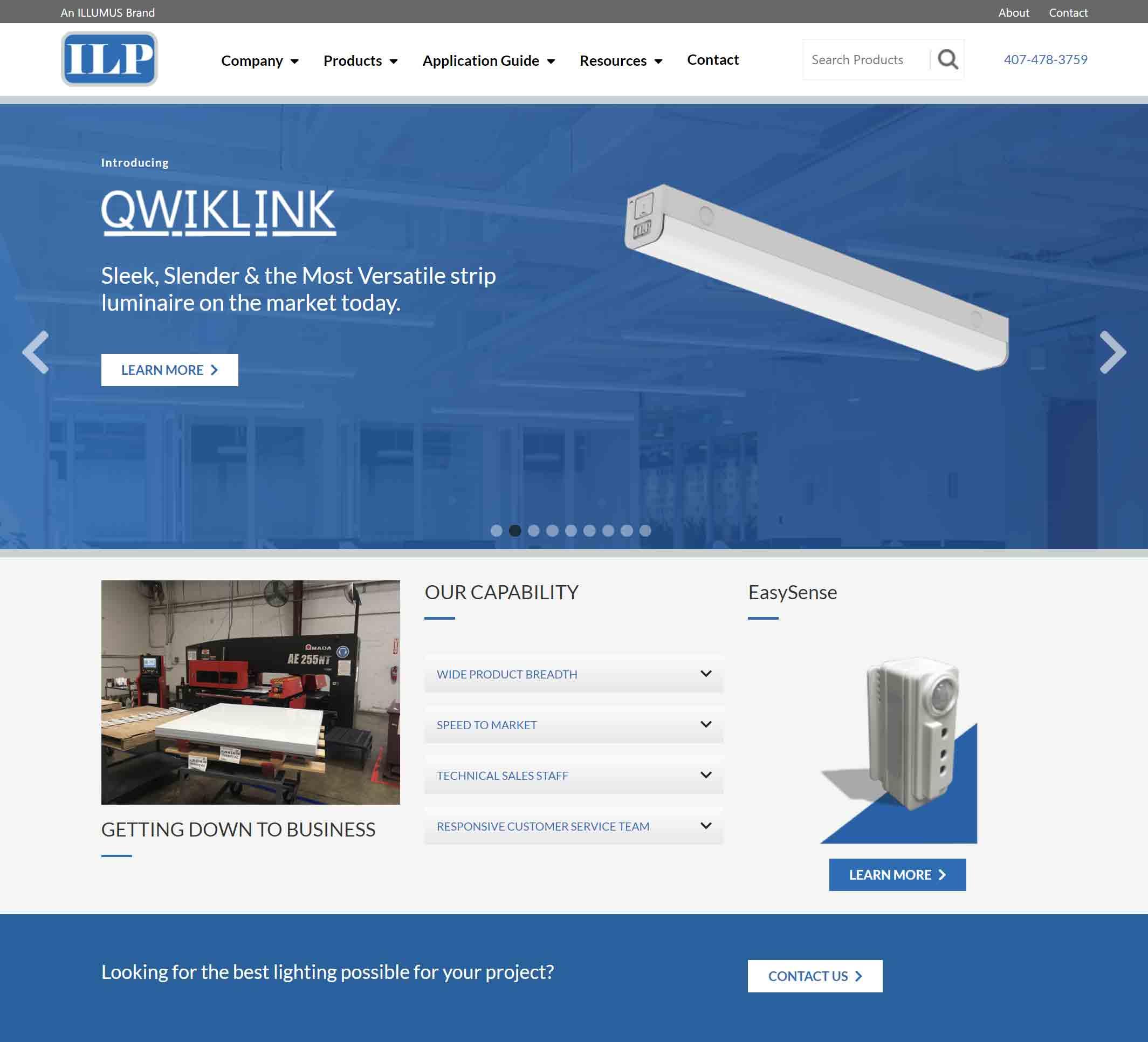 ILP homepage screenshot