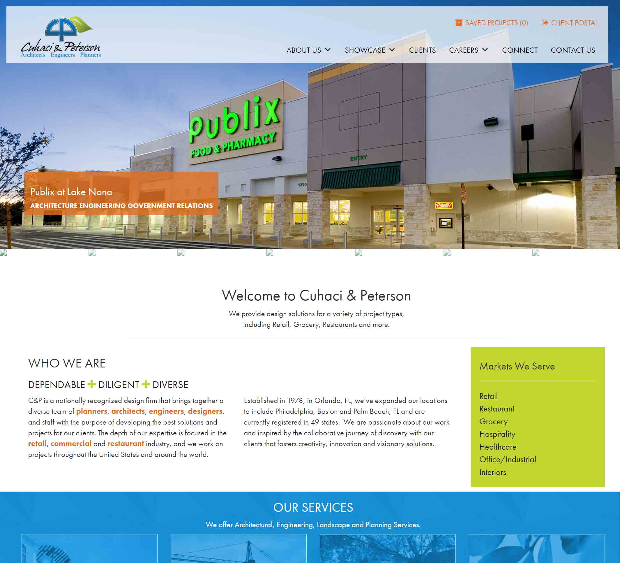 Old C-P Homepage Screenshot