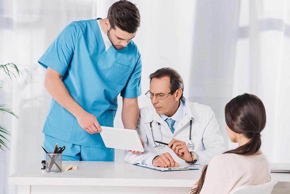 Multiple doctors working