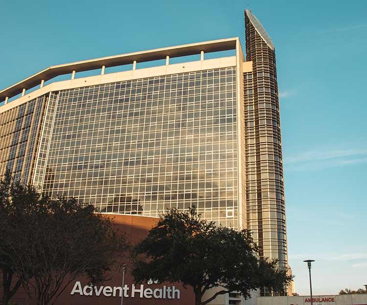 Advent Health building in Orlando, Florida