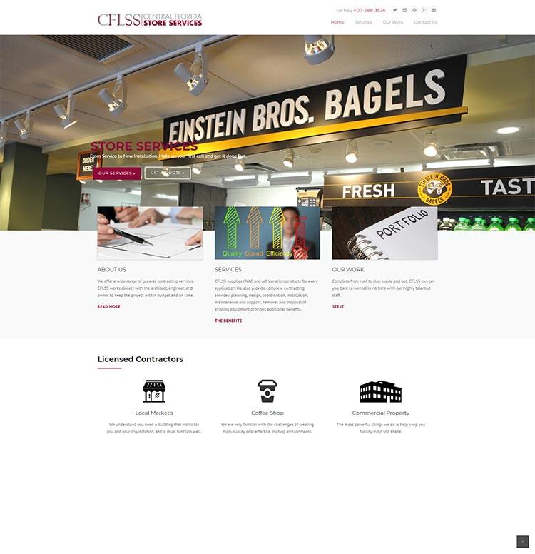 CFLSS old website screenshot