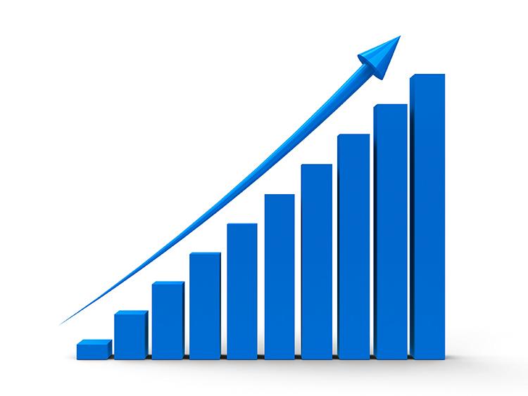 Blue Positive Chart