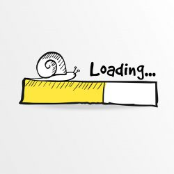 loading screen for a business website with slow loading times leading to bad website ux