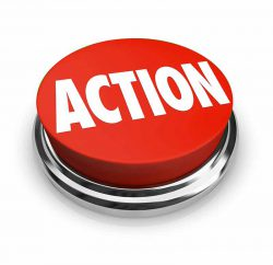 """big red button with the word """"action"""" on it to symbolize a call to action button that should be on every business website for optimal website ux."""