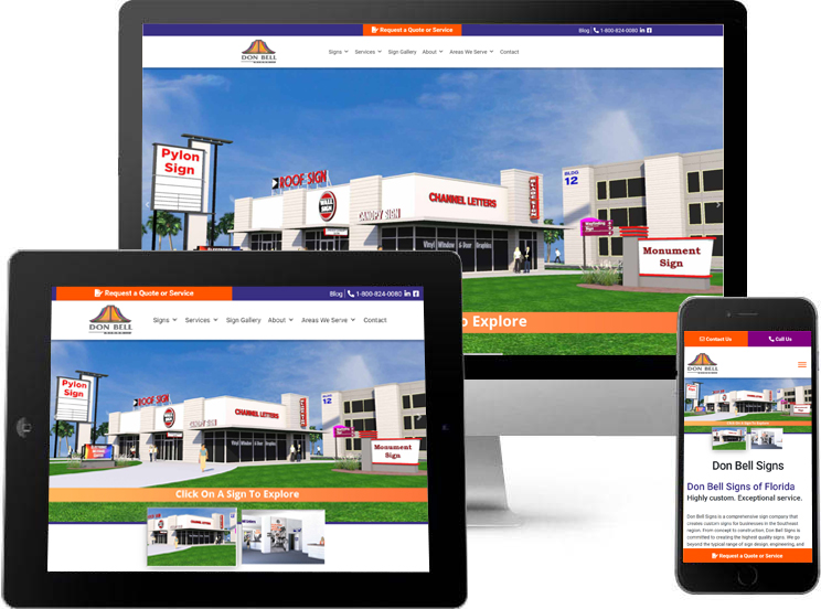 Don Bell Signs - New Responsive Website